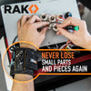 RAK Magnetic Wristband with Strong Magnets for Holding Screws, Nails, Drill Bits - Best Unique Tool Gift for DIY Handyman, Father/Dad, Husband, Boyfriend, Men, Women - RAK Pro Tools