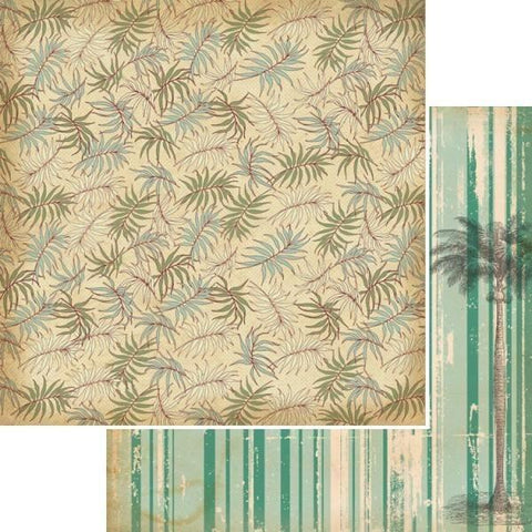 Kaisercraft 12x12 sheet- Tropicana, Palm tree