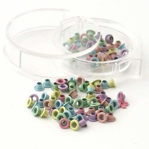 "3/16"" Woodware eyelets - Pastel colors"