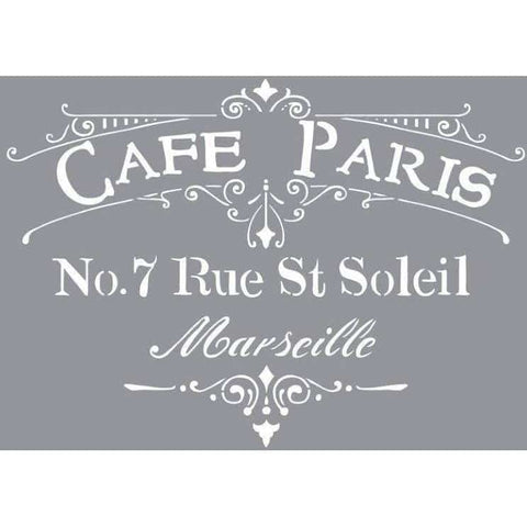 DecoArt Americana stencil 12X12 - Cafe Paris