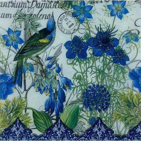 Decoupage Napkin - Blue Birds