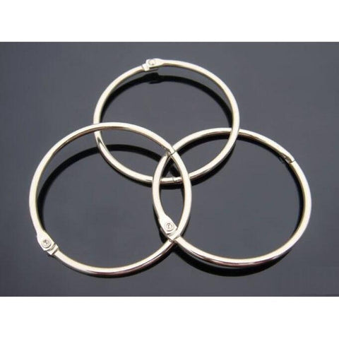 "Woodware Book Rings - Silver 2"", pack of 24"