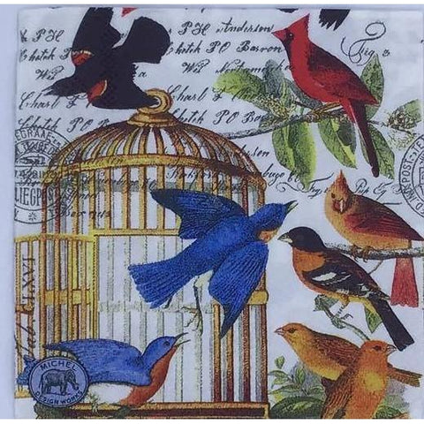 Decoupage Napkin - Caged Flight