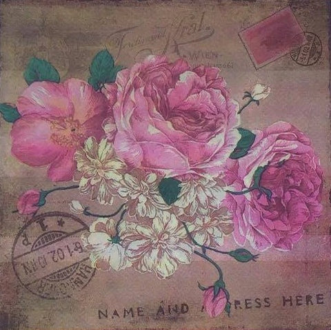 Decoupage Napkin - On my Table