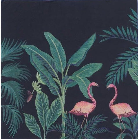 Decoupage Napkin - Flamingos by Night
