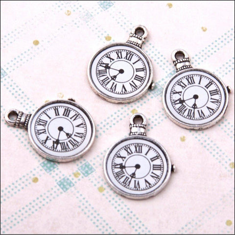 Hobby House Metal Charms - Silver Clocks