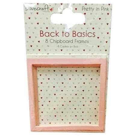Dovecraft Back to Basics Chipboard Frames – Pretty in Pink