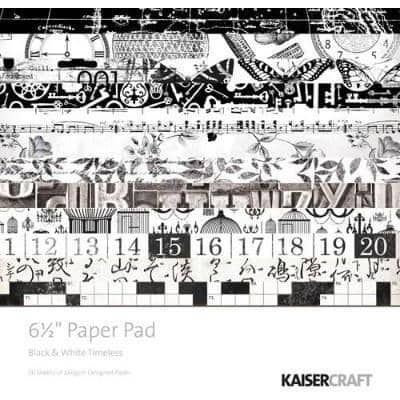 KaiserCraft 6.5x6.5 Paper Pad - Black & White Timeless