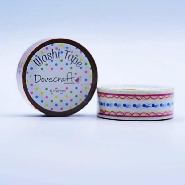 Dovecraft Washi Tape - Scallops & Dots