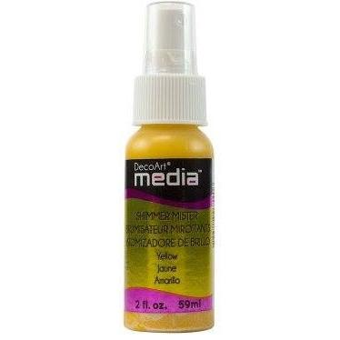 DecoArt Mixed Media 2oz Shimmer Mister - Yellow