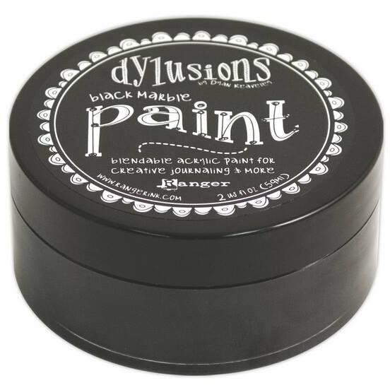 Dylusions Paints - Black Marble