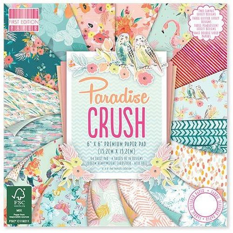 First Edition 6x6 Paper Pad - Paradise Crush