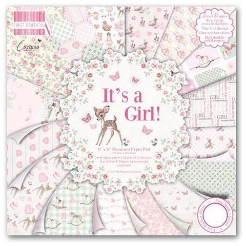 First Edition 6x6 Paper Pad - It's a Girl