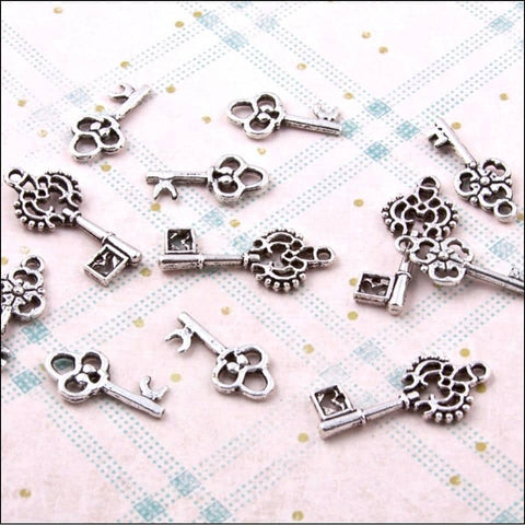 The Hobby House Metal Charms & Spacers - Set of Keys