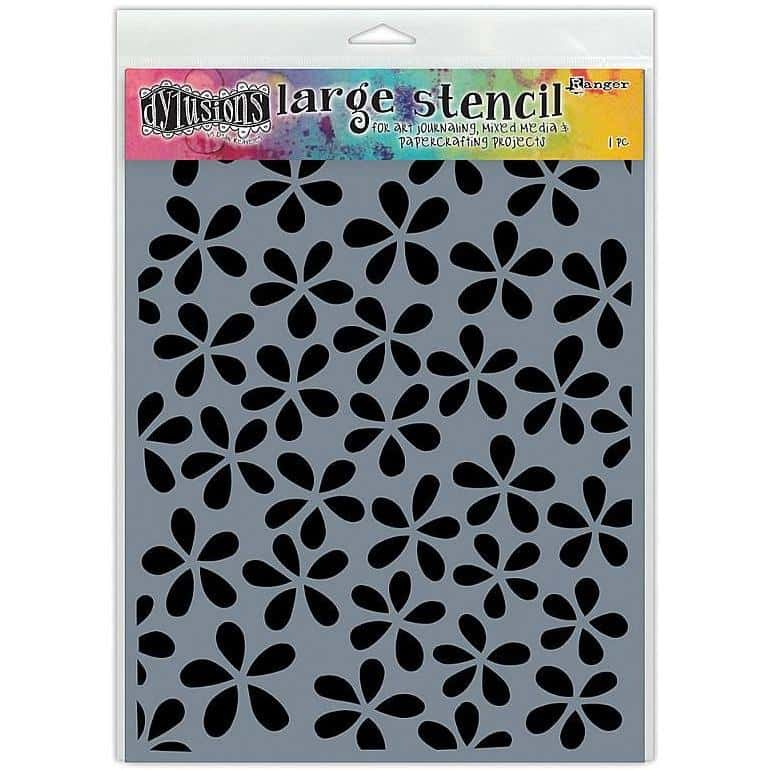 Dylusions Stencil Flower Pop Large