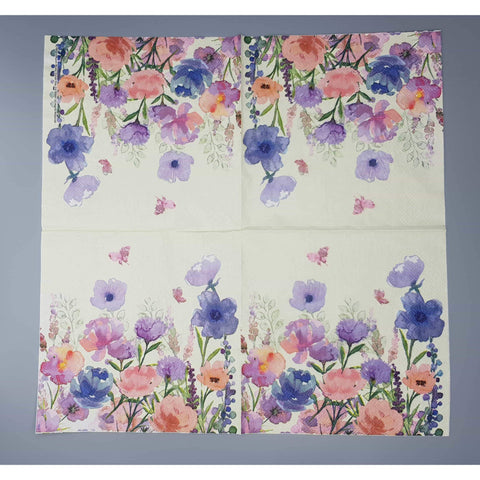 Decoupage Napkin - Yellow Meadows