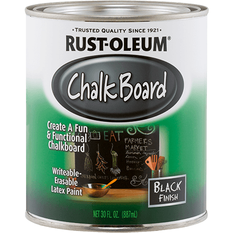 Rustoleum Brush-on Paint - Chalkboard Black