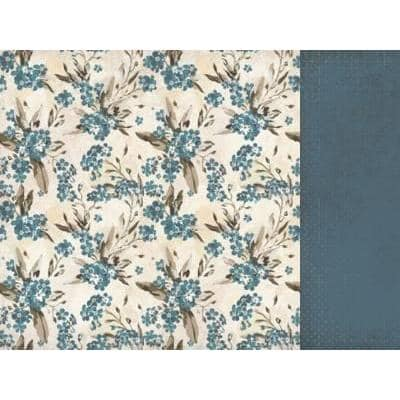 Kaisercraft 12x12 sheet- Forget Met Not, Blue Bell