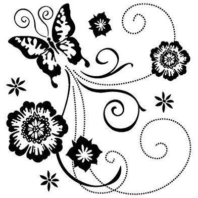 Inkadinkado Clear Stamp - Butterfly Scroll