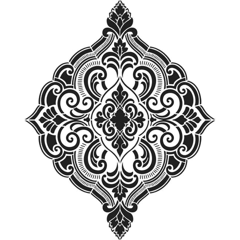 Plaid Wall Stencil - Ornate Damask