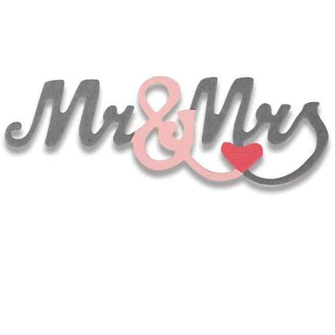 Sizzix Thinlits Die - Mr. & Mrs. #2 Mini