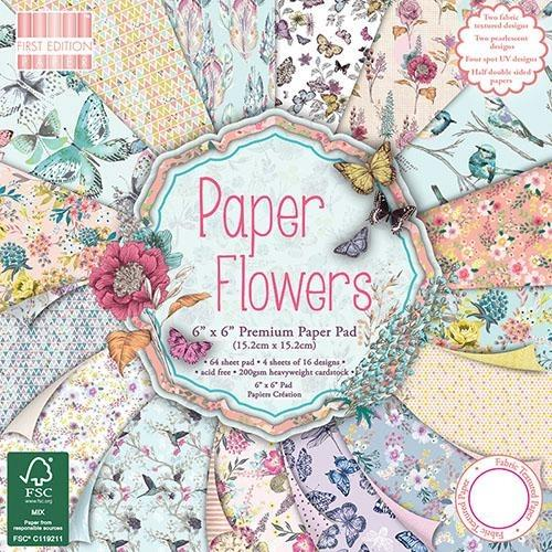 First Edition 6x6 Paper Pad - Paper Flowers