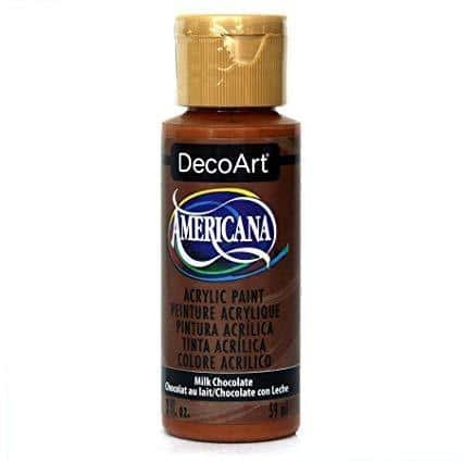 DecoArt Americana Acrylic Paint 2oz - Milk Chocolate