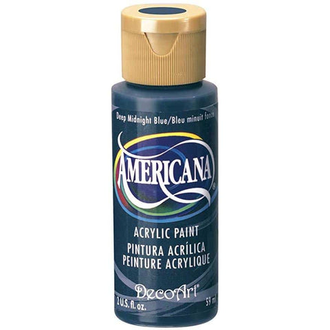 DecoArt Americana Acrylic Paint 2oz - Deep Midnight Blue