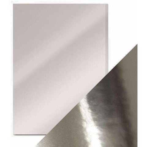 Craft Perfect Mirror Card A4 Pack- Chrome Silver