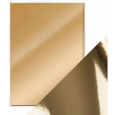 Craft Perfect Mirror Card A4 Pack- Harvest Gold