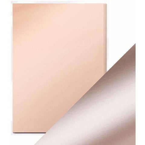 Craft Perfect Mirror Card A4 Pack- Burnished Rose Satin