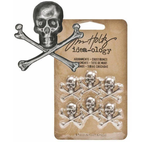 Tim Holtz Idea-ology Adornments, Crossbones