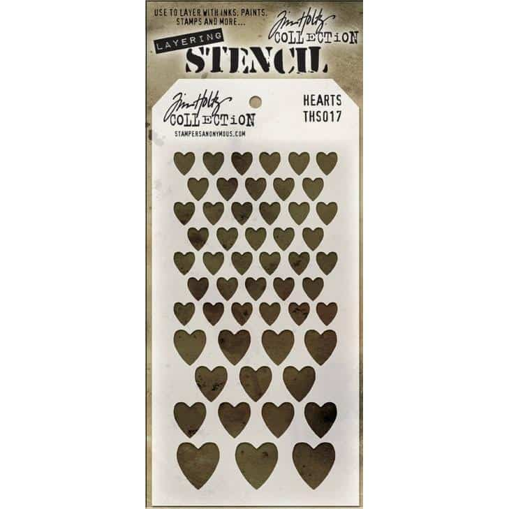 Tim Holtz Layered Stencil - Hearts
