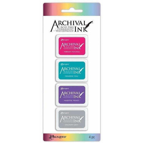 Archival Mini Ink Pads Kit 4