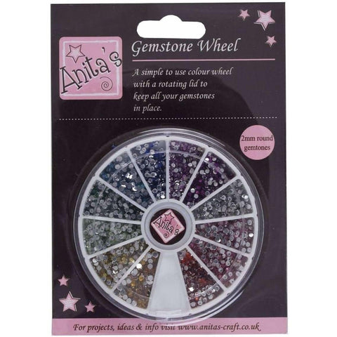 Anita's Gemstone Wheel (2mm Gems) - 12 Colours