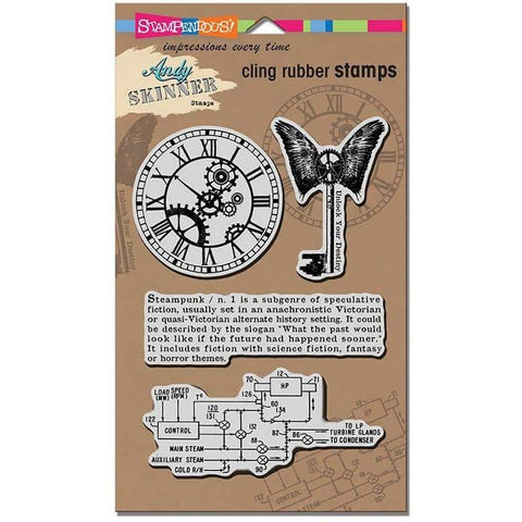 Stampendous Cling Steampunk Set