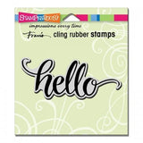 Stampendous Cling Big Brush Hello
