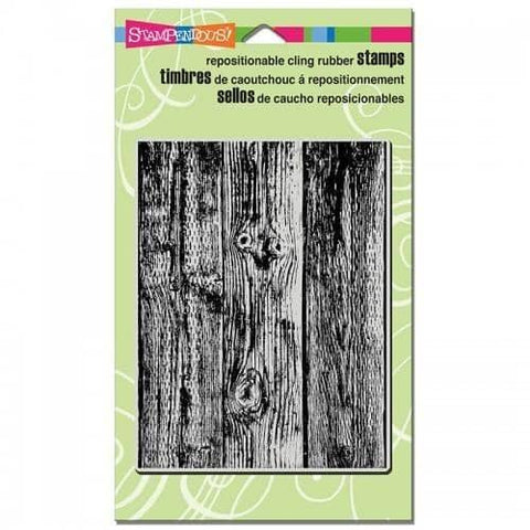 Stampendous Cling Vintage Wood Background