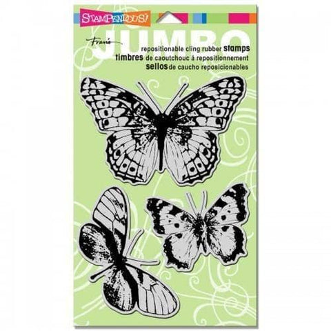 Stampendous Cling Jumbo Butterfly Trio