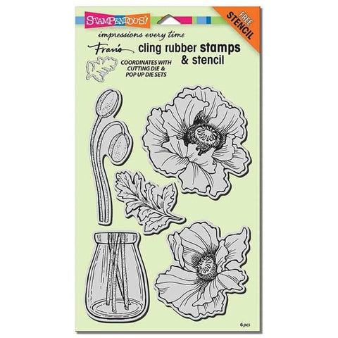 Stampendous Cling Pretty Poppies Stamp Set
