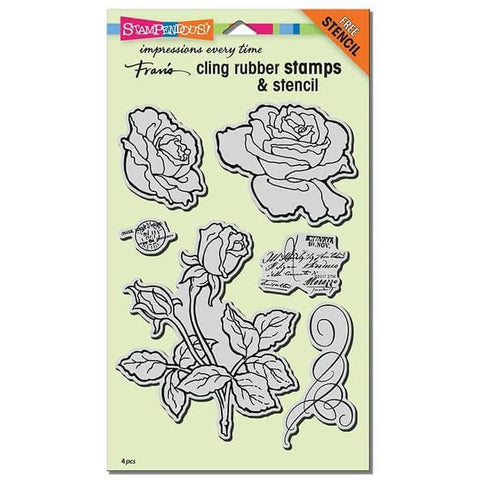 Stampendous Cling Rose Garden Rubber Stamp Set