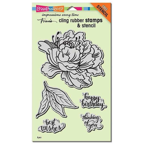 Stampendous Cling Fresh Peony Stamp Set