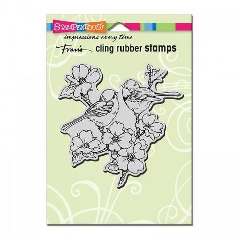 Stampendous Cling Dogwood Birds