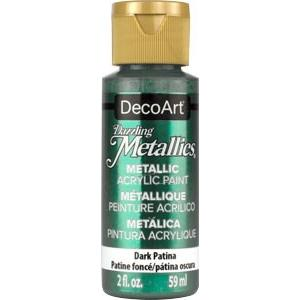 DecoArt Dazzling Metallics paint - Dark Patina- 2 oz