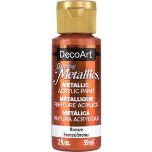 DecoArt Dazzling Metallics paint - Bronze - 2 oz