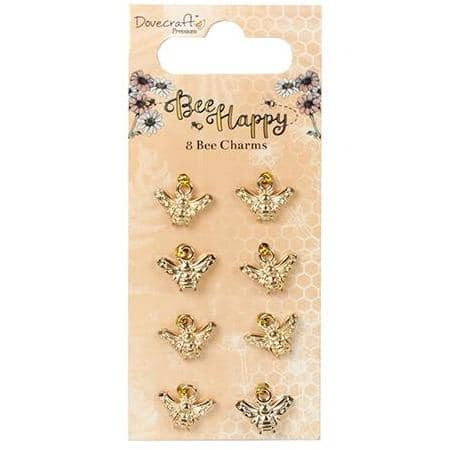 Dovecraft Charms - Bee Happy Bee