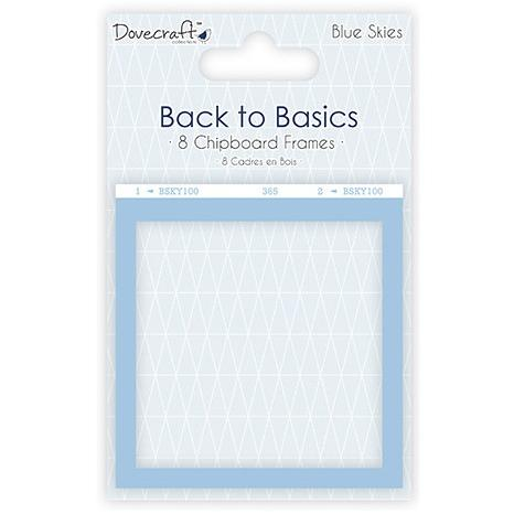 Dovecraft Back to Basics Chipboard Frames – Blue Skies