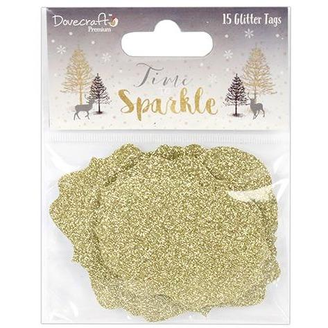 Dovecraft Time to Sparkle Glitter Tags