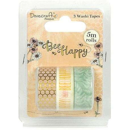 Dovecraft Washi Tapes - Bee Happy