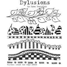 Dylusions Cling Rubber Stamp - Further Around The Edge